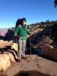 Tod at start of our descent on South Kaibab