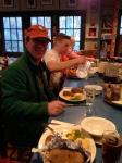 Steak dinner, family style.