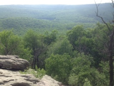 The view from Chimney Rocks.