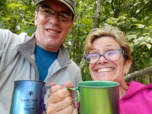 Coffee + hiking + view = bliss!