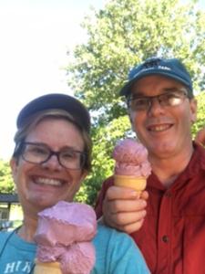 Shenandoah is known for Blackberries. Blackberry ice cream? Yum!